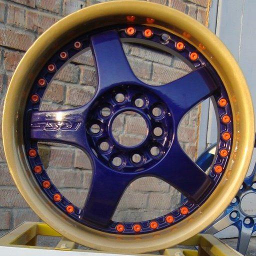 Полимерная порошковая окраска диска в 3 цвета
